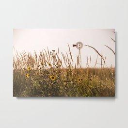 Sunflower Dreams & Windmill Memories... Metal Print