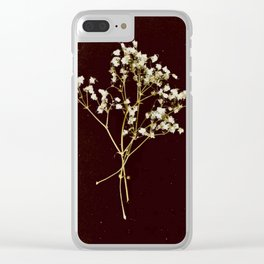 Vintage Love - Baby's Breath Clear iPhone Case