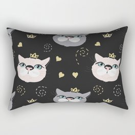 Cute cat princess face. Rectangular Pillow