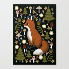 hello fox Canvas Print