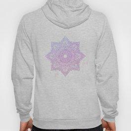 Violet pink flower mandala - marble Hoody