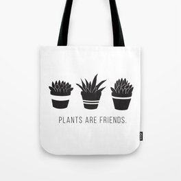 Plants are Friends - Houseplants Art Tote Bag
