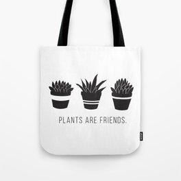 Plants are Friends - Houseplants Art Tote Bag
