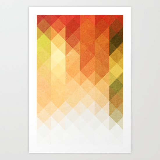 Three Way Retro  Art Print
