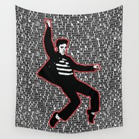 lyrics Wall Tapestries featuring Elvis Presley - Jailhouse Rock - Lyrics - Pop Art by William Cuccio aka WCSmack