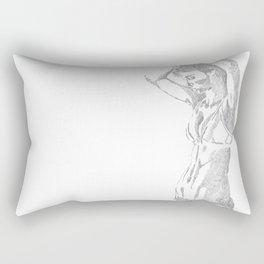 Sketch of a girl Rectangular Pillow