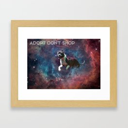 A Phocid in Space (Adopt Don't Shop) Framed Art Print