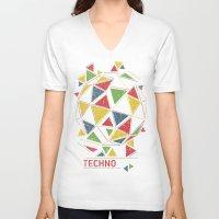 deadmau5 V-neck T-shirts featuring Techno by Sitchko Igor