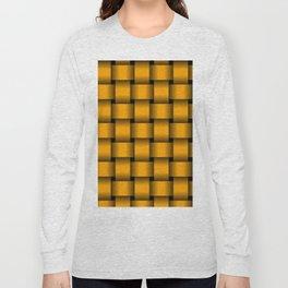 Large Orange Weave Long Sleeve T-shirt