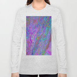Pink Turquoise Pour Long Sleeve T-shirt
