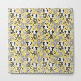 Safari - yellow Metal Print