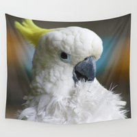 parrot Wall Tapestries featuring Parrot  by Jasmine Keyes