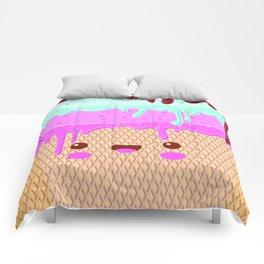 kawaii melted ice cream Comforters