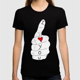 I love you - thumbs up T-shirt