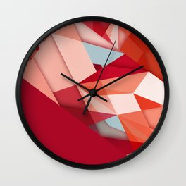 my favorite color red Wall Clock