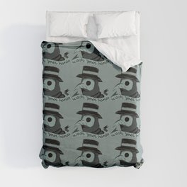 Plague doctor please wash your hands sign Duvet Cover