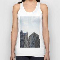 detroit Tank Tops featuring Downtown Detroit by Michelle & Chris Gerard