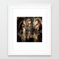 the hobbit Framed Art Prints featuring  Hobbit by ira gora