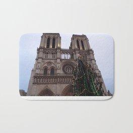 Notre Dame de Paris at Christmas Time Bath Mat