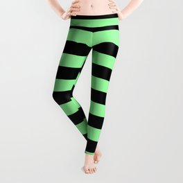 Chrysoprase and Black Stripes Leggings