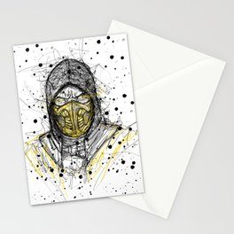 Scribble Scorpion Stationery Cards