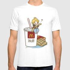 Hetalia - America Loves McDonalds  Mens Fitted Tee MEDIUM White