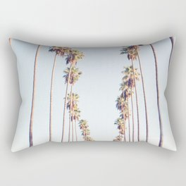 Palm tree stripes Rectangular Pillow