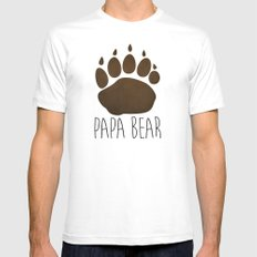 Papa Bear White Mens Fitted Tee LARGE