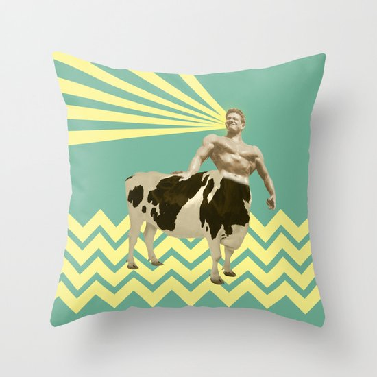 The real muscular cow-boy  Throw Pillow