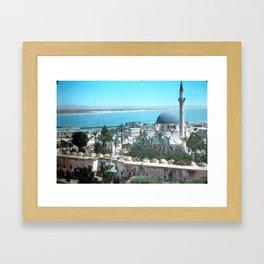Akka. Carmel range across the bay Framed Art Print