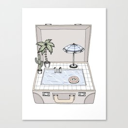 Pool To Go Canvas Print