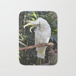 Sulfur-Crested Cockatoo Salutes the Photographer Bath Mat