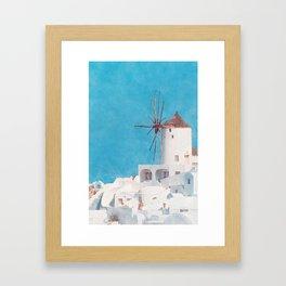 Mediterranean journey-Santorini Framed Art Print