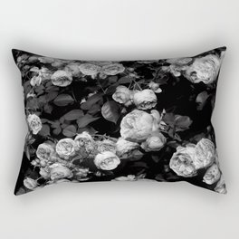 Roses are black and white Rectangular Pillow