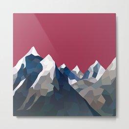 Geo Mountain Range (Part 2) Metal Print