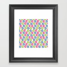 Donuts 2 Pattern Framed Art Print