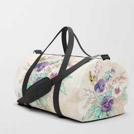 Pansies Bouquet Duffle Bag