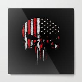 Punisher American flag Metal Print