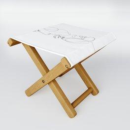 Lovers - Minimal Line Drawing Art Print 2 Folding Stool