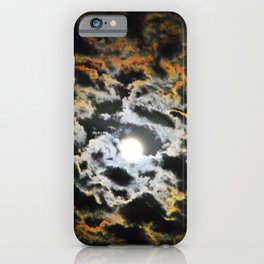 Tiger Full Moon iPhone Case
