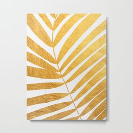 Golden leaf X Metal Print