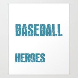 God Made Baseball  Art Print