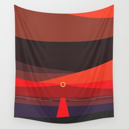 Sunset on the beach at 6:47 pm Wall Tapestry