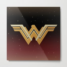 WW Movie Logo JL Variant Metal Print