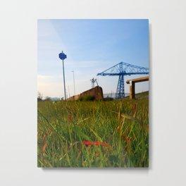 Transporter Bridge - Landscape/Middlesbrough Metal Print