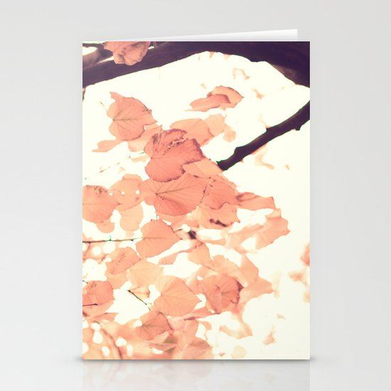 Pink autumn Stationery Cards