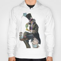 mad hatter Hoodies featuring Mad Hatter by Oliver Dominguez