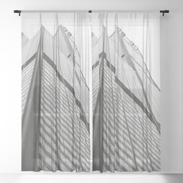 Skyscraper - Willis Tower Chicago Architecture Sheer Curtain