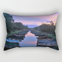 Early Morning at the Boat park Rectangular Pillow