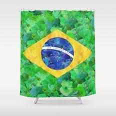 BRASIL em progresso Shower Curtain